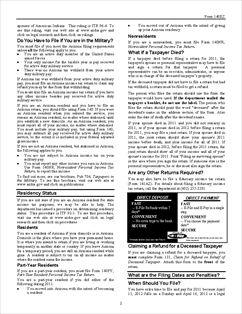 Form 140EZ-Inst Resident Personal Income Tax (EZ Form) Instructions