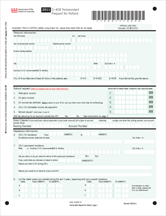 Form D-40B-Booklet Nonresident Request for Refund