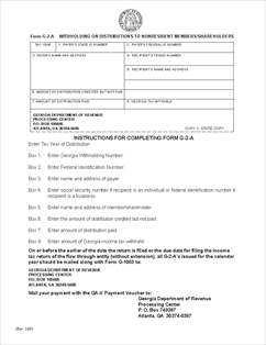 Form G2-A Withholding on Distributions to Non-Resident Members ...