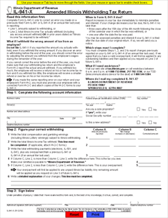 Form IL-941-X Amended Illinois Withholding Tax Return