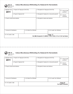 Form WH-18 Miscellaneous Withholding Tax Statement for Nonresidents
