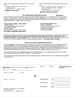 Form WH-1U Underpayment of Indiana Withholding Filing Instructions