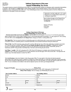 Form WH-3 Annual Withholding Tax Form