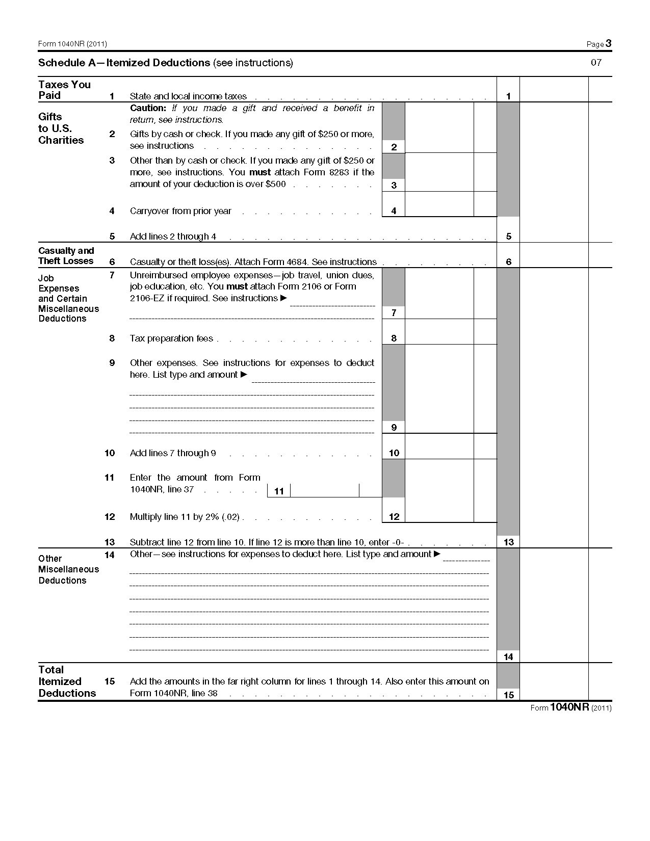 Form 1040 nr us nonresident alien income tax return falaconquin