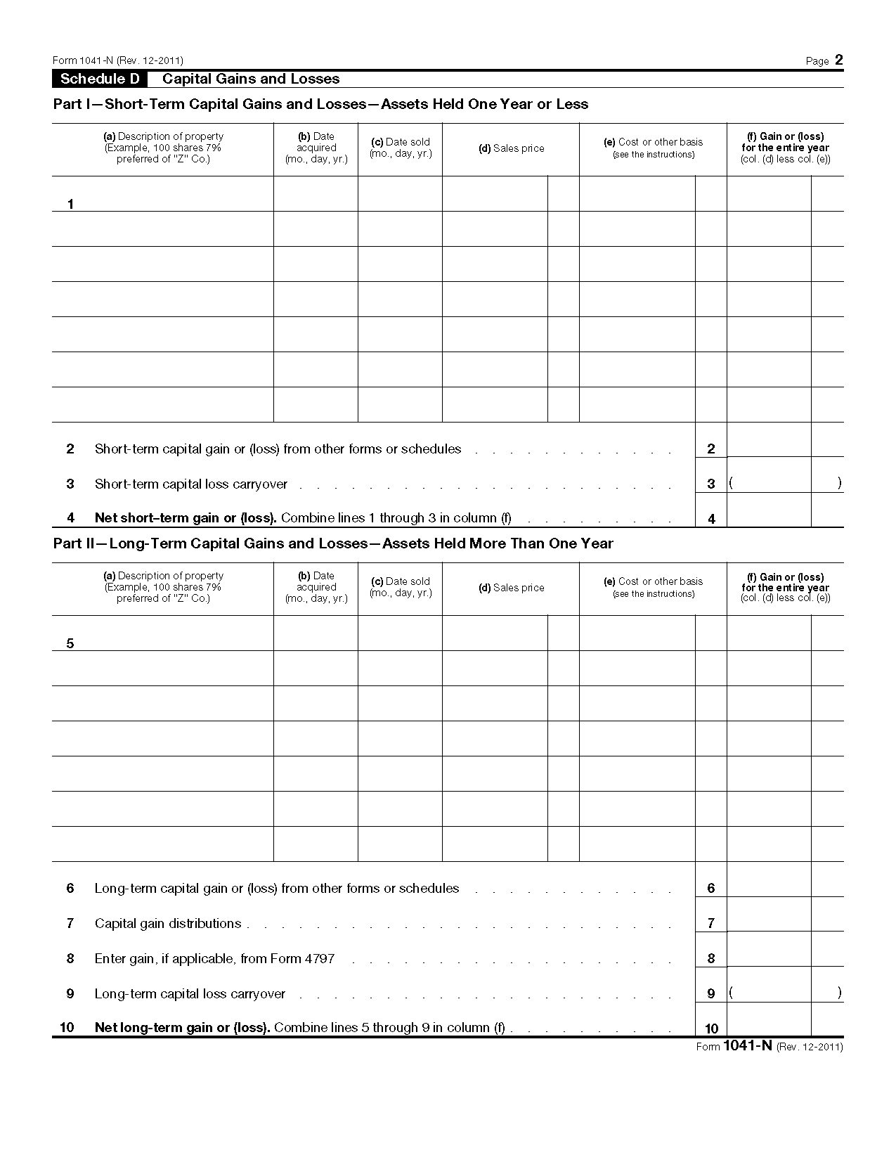 1040 capital gains worksheet
