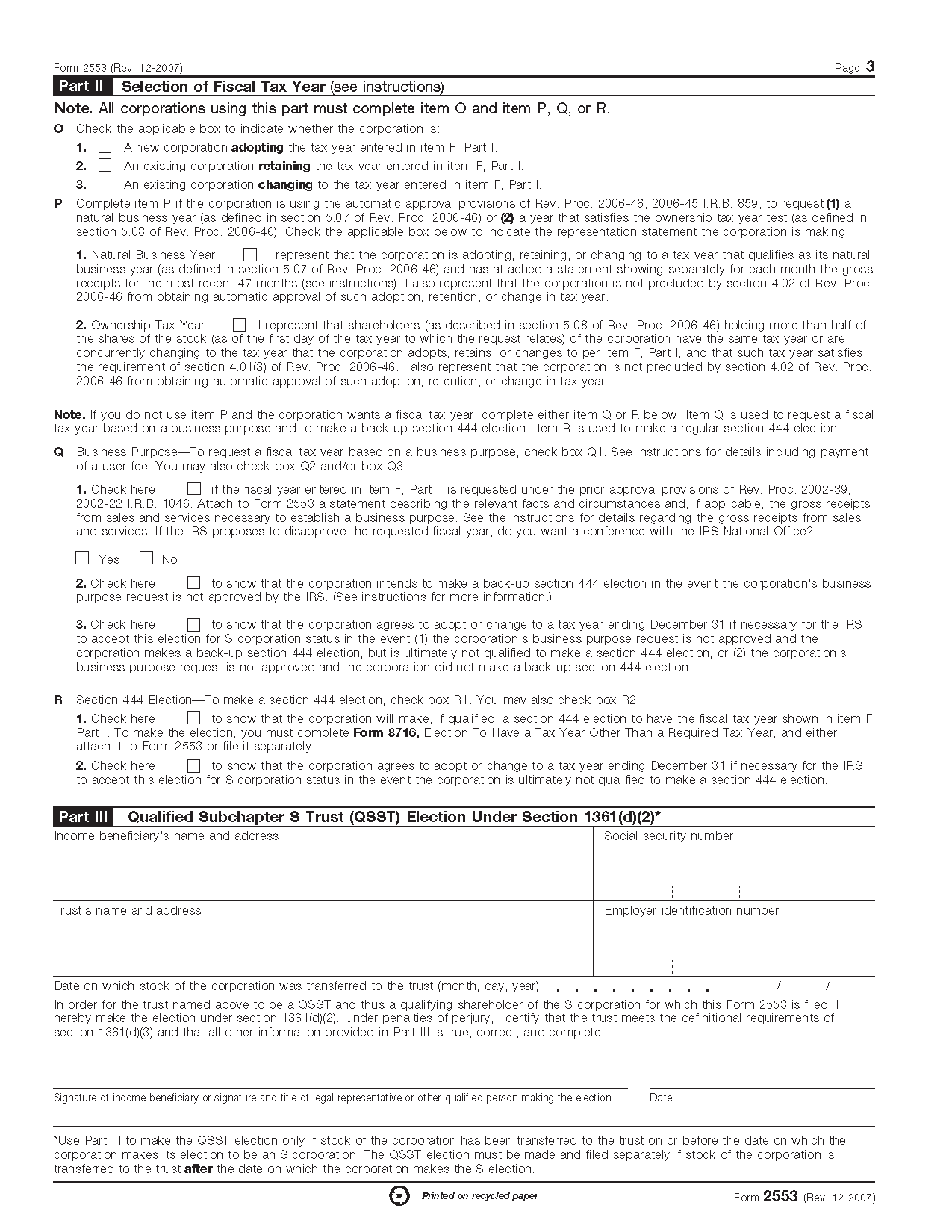 Form 2553 election by a small business corporation view all 2011 irs tax forms falaconquin