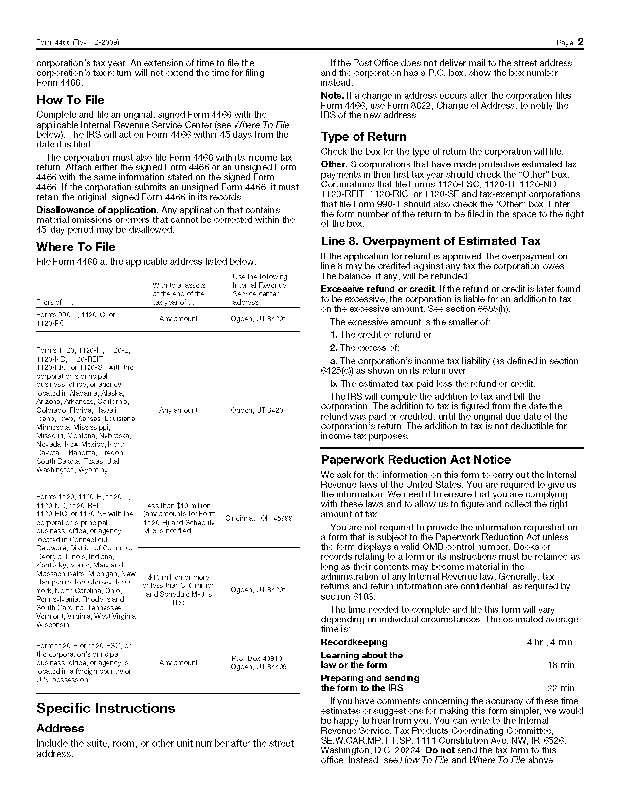 form  corporation application  quick refund 1275 x 1650 · png