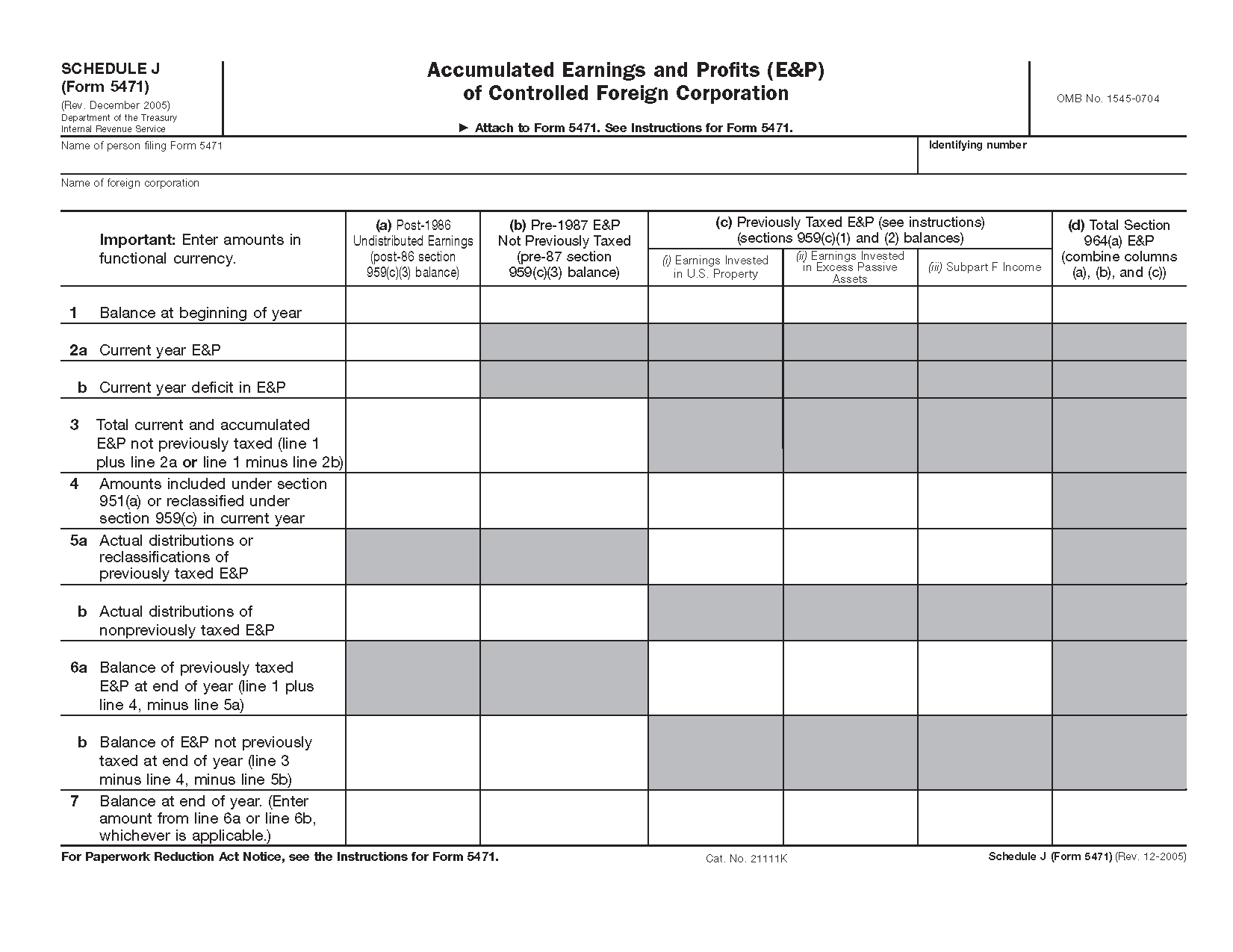 Form 5471 schedule j accumulated earnings and profits ep of view all 2011 irs tax forms falaconquin