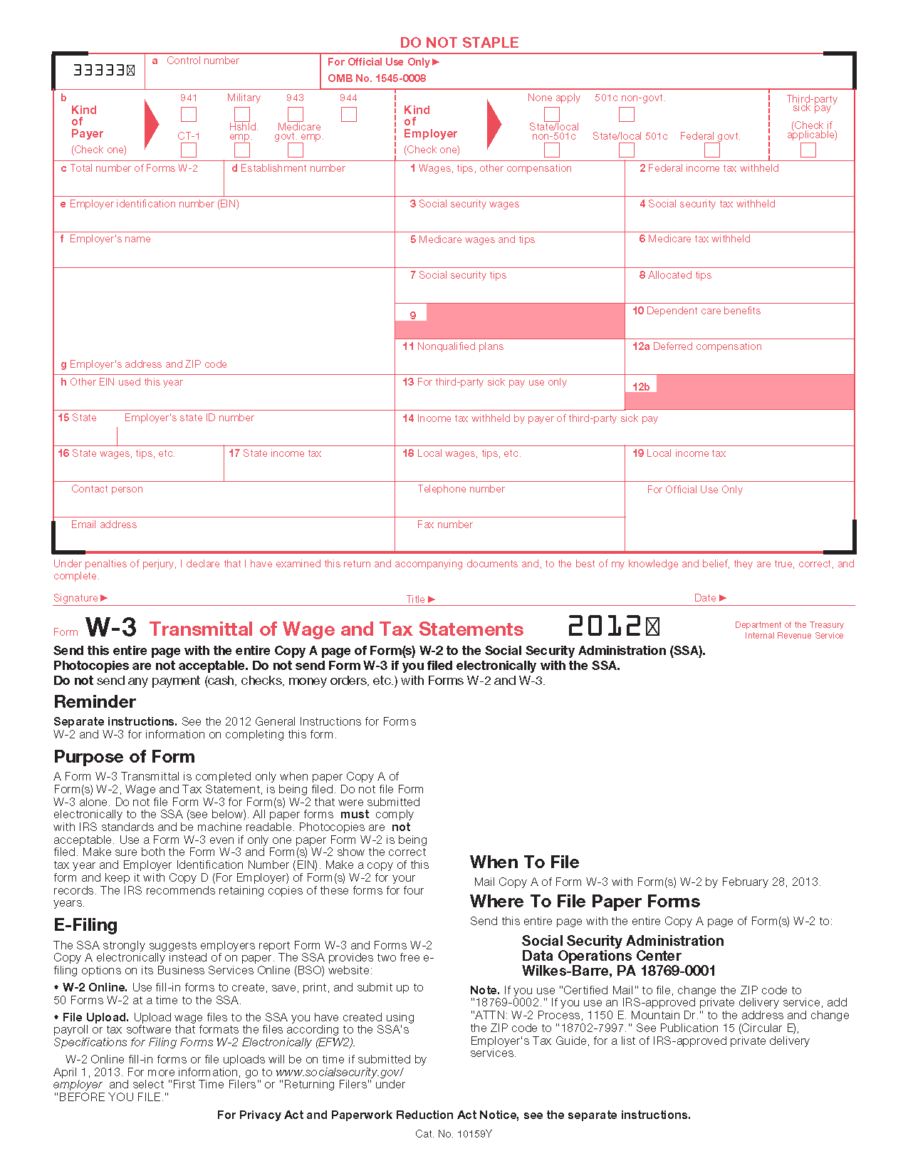 W9 Request for Taxpayer Identification Number and
