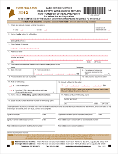 Form REW-1-1120 Real Estate Withholding Return For Transfer Of ...