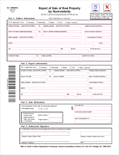Form NC-1099-NRS Report of Sale of Real Property by Nonresidents