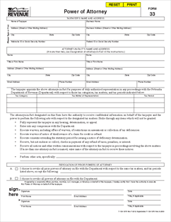 power of attorney form 33  Form 7 Power of Attorney
