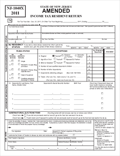 Form nj-1040x-inst amended resident return instructions.