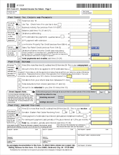511 Form 2-D Individual Resident Income Tax Return