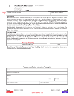 Form PA-1000PS 2011 Physician's Statement - Physician's Statement ...