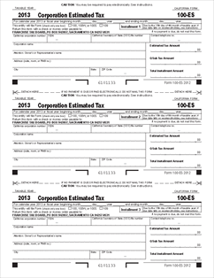 Form 100-ES Corporation Estimated Tax