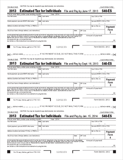 Form 540-ES Estimated Tax for Individuals