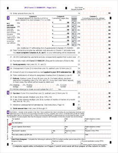 1040 Income Tax Return Form for 2012