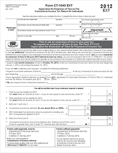 Form CT-1040 EXT 2012 Application for Extension of Time to File ...