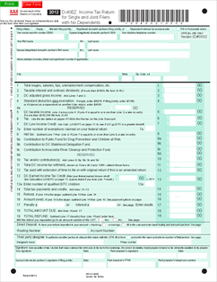 Form D-40 EZ Individual Income Tax Forms and Instructions for ...