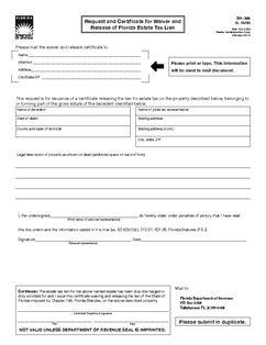 Form DR-308 Request and Certificate for Waiver and Release of ...