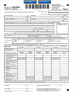 Form 500-NOL Application for Net Operating Loss Adjustment (other ...