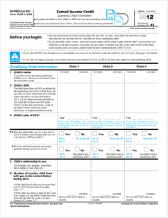 IRS Form 1040 Schedule D 2012
