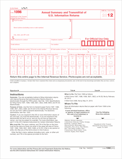 Form 1096 Annual Summary and Transmittal of U.S. Information ...
