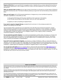 form 12203 request for appeals review