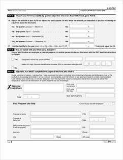 2012 Form 940 Form 940 Forms And Templates Fillable Forms Amp ...