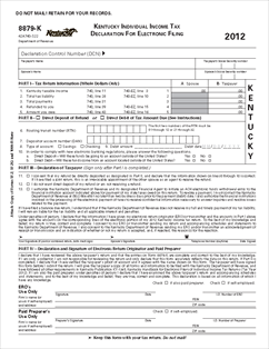 Form 8879-K Kentucky Individual Income Tax Declaration for ...