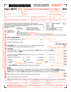 Form 1-NR-PY Nonresident or Part-Year Resident Income Tax Return