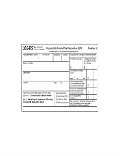Form 355-ES-2013 Corporate Estimated Tax Payment Vouchers