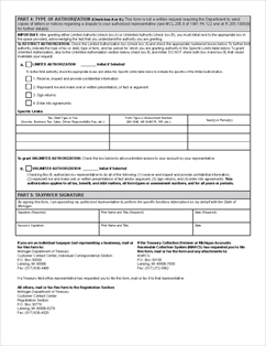 Form 151 Authorized Representative Declaration/Power of Attorney (151)