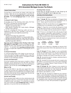 more on Michigan tax forms 2013 : michigan state 1040 1040a 1040ez