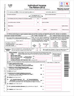 Form D-400 Individual Income Tax Return (no tax credits)