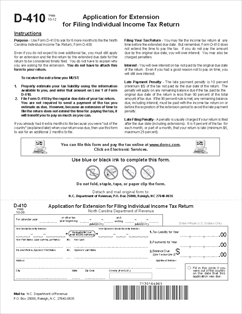 income tax extension form