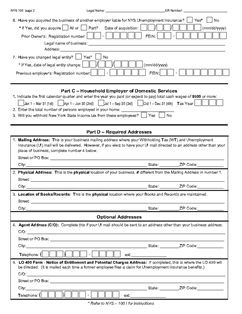 Form NYS-100 New York State Employer Registration for Unemployment ...