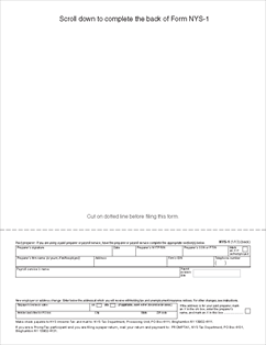 Form NYS-1 Return of Tax Withheld