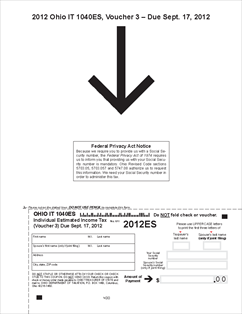 Form IT-1040ES Income Tax Estimated Payment Vouchers and Instructions