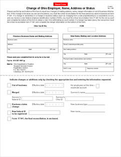Form IT-WHC Change of Ohio Employer, Name, Address or Status