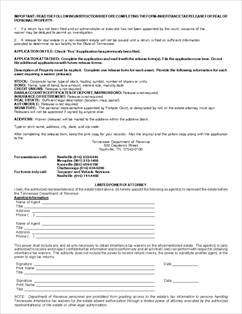 Form INH-Waiver Application for Inheritance Tax Waiver