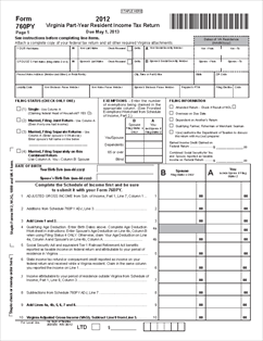 Form 760PY 760PY - Part-Year Resident Individual Income Tax Return