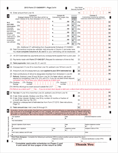 Form CT-1040NR-PY Fillable 2013 Nonresident/Part-Year Resident Tax ...