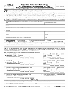 Form 4506-A Fillable Request for Public Inspection or Copy of ...