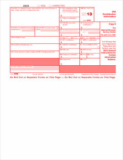 Form 5498 Fillable IRA Contribution Information (Info Copy ...