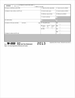 Form W-2GU Fillable Guam Wage and Tax Statement (Info Copy ...