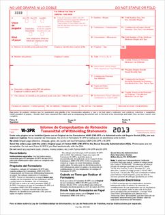 Form W-3 (PR) Fillable Informe de Comprobantes de ...