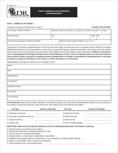 Form R-7006 Fillable Power of Attorney and Declaration of ...