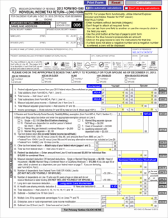 Form MO-1040 Individual Income Tax Return - Fillable and ...